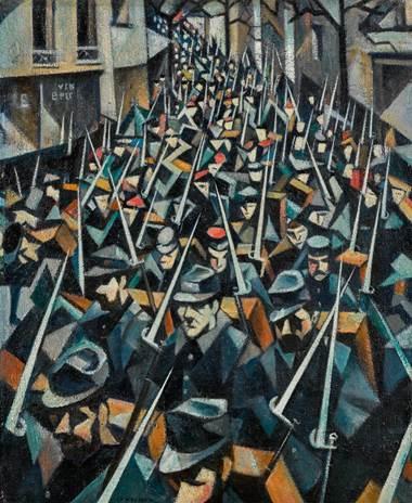 C.R.W. Nevinson A Dawn از هنر و سیاست